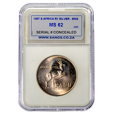 1967 South Africa R1 Silver SANGS MS62