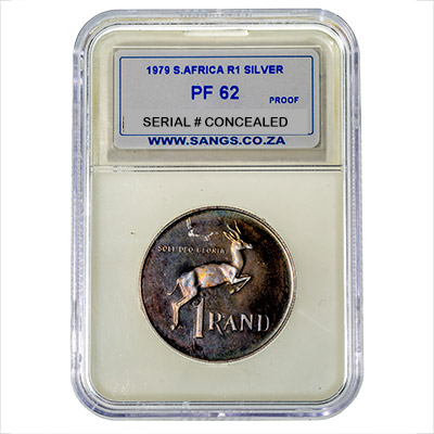 1979 South Africa R1 Silver SANGS PF62