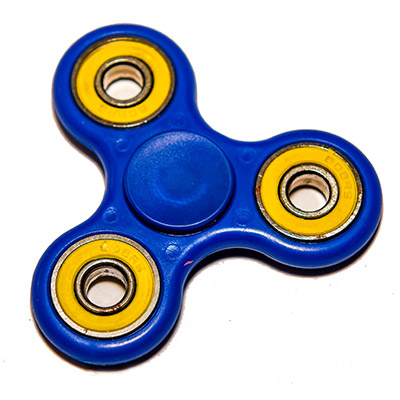 Fidget Spinner Blue Yellow